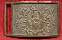 Massachusetts State Seal Sword Belt Plate