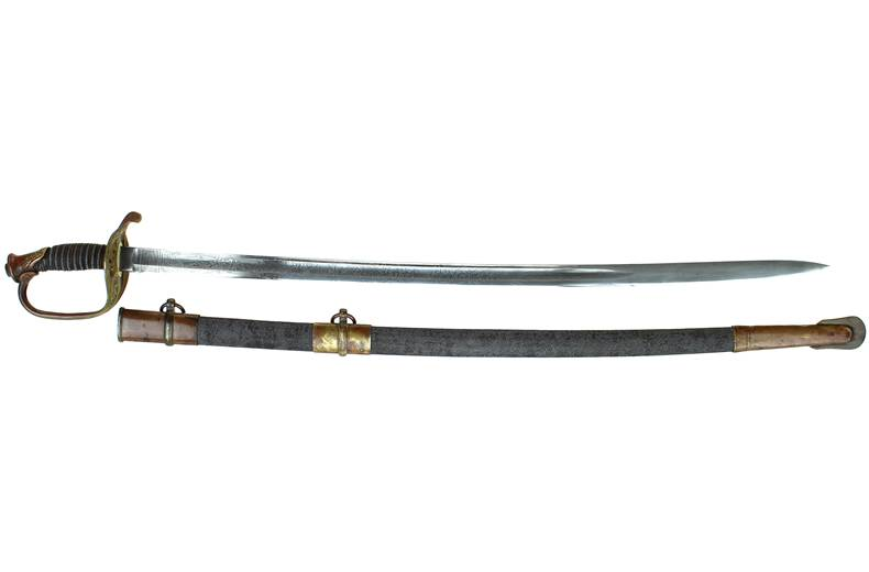 M 1850 Foot Officer Sword - Sharkskin Scabbard